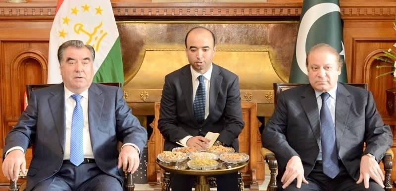 Prime Minister Nawaz Sharif meets the President of Tajikistan