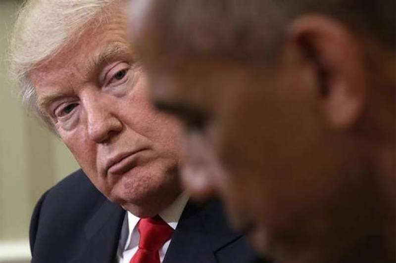 Trump blames Obama for security leaks, demonstrations