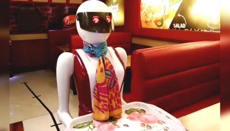 Pakistan's first ever cool robot waiter