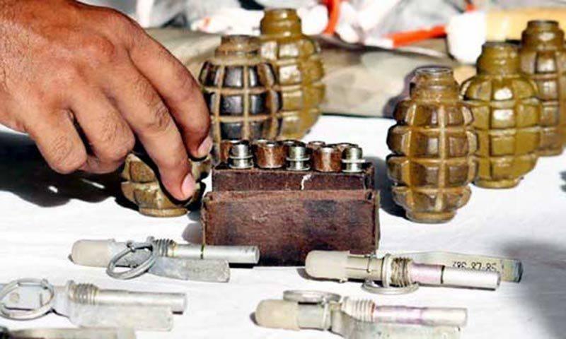 LEAs foiled terror bid, recover cache of explosives, ammunition