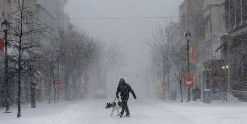 Flights canceled, schools shut under Blizzard in northeast U.S.