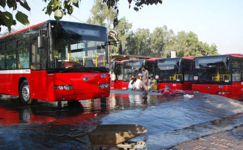 Punjab govt inaugurates speedy feeder bus service in Lahore