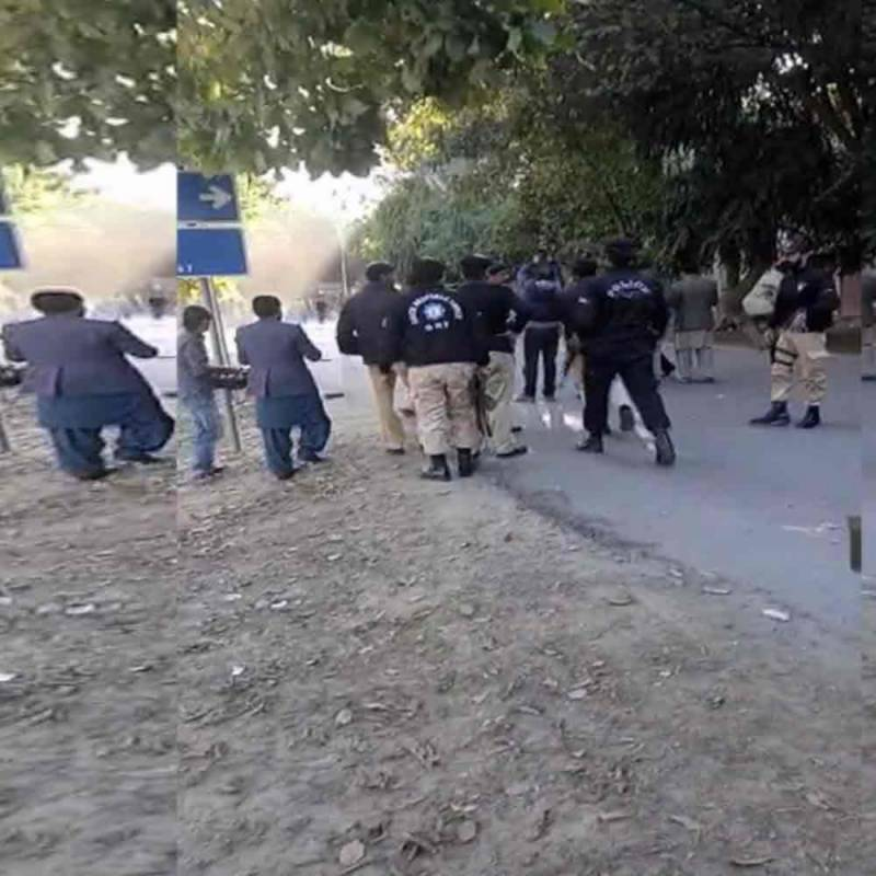 Five injured as clash erupts between two student groups of Punjab University
