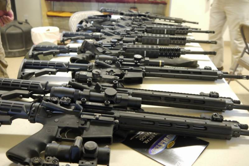 Weapons recovered during Rangers operation near Safari Park