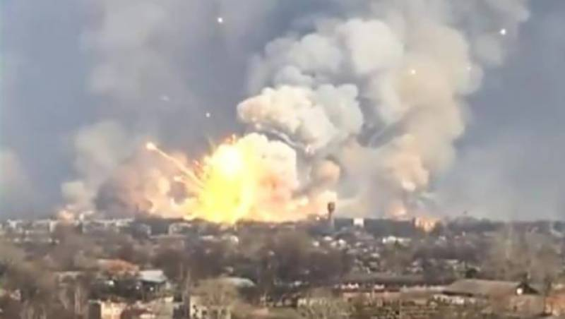 More than 20,000 evacuated after massive fire at ammunition depot in Ukraine