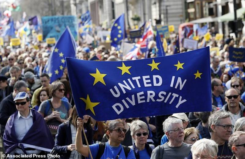 Marches across London against possible looming Brexit