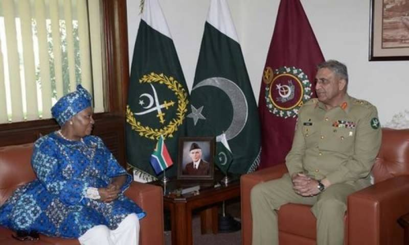 S. African defence minister meet COAS to discuss defence issues