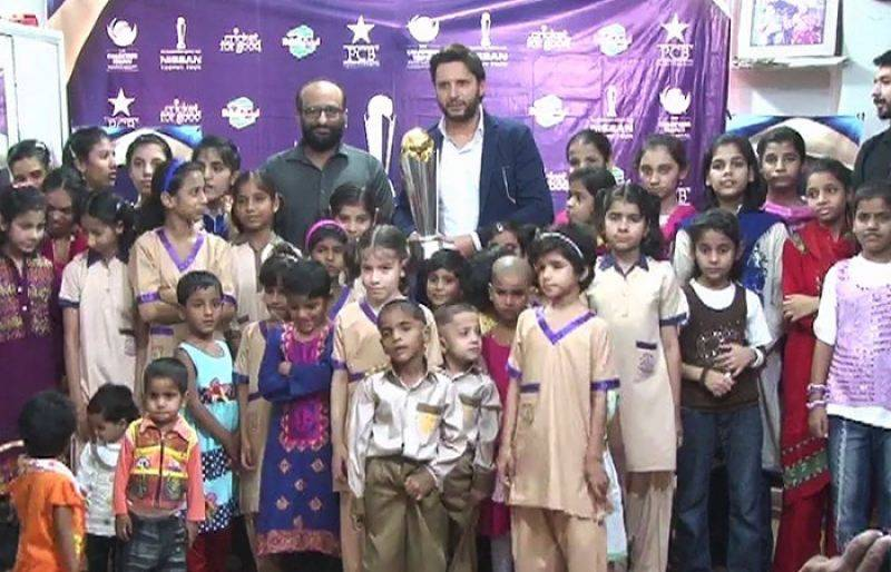 Edhi Home receives ICC Champions Trophy