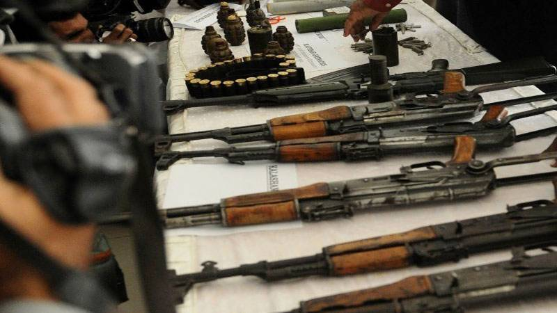 Karachi: Weapons recovered in graveyard