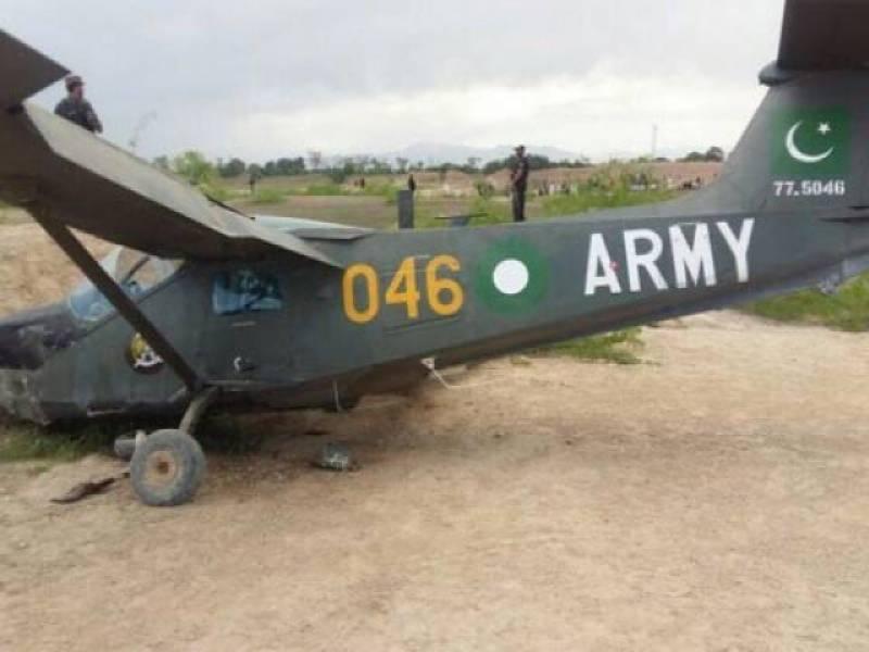 PAF aircraft crash-lands near Peshawar