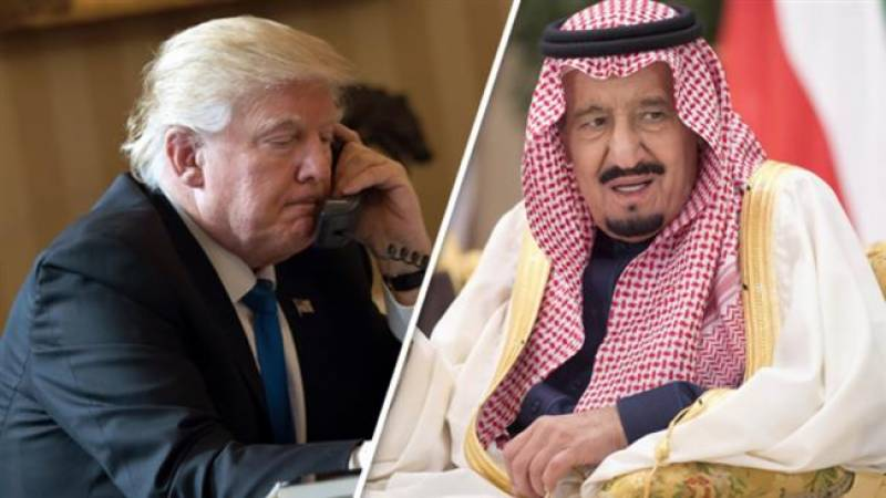 Saudi king supports US military strikes in Syria