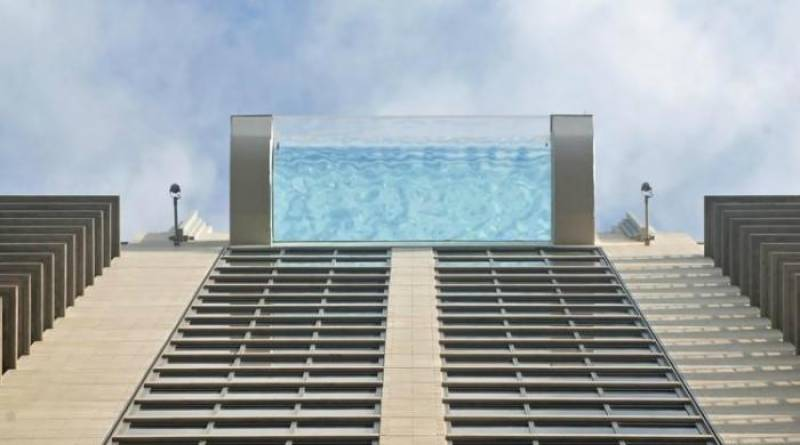 Watch: Sky glass pool for adventure lovers