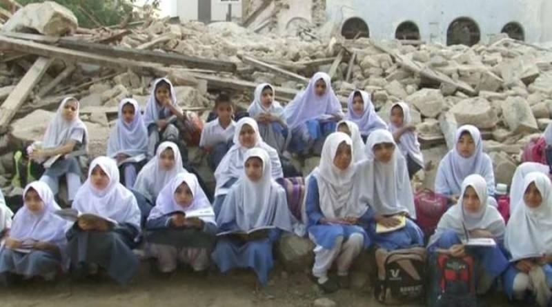 Karachi: historical school building demolished, students stranded