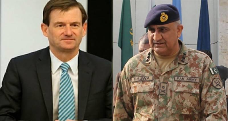 US envoy meets Army chief Bajwa, appreciates operation Radd-ul-Fasaad
