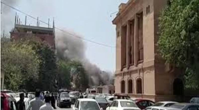Blaze near Sindh Assembly extinguished