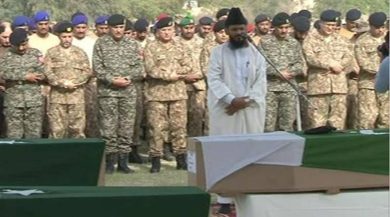 Funeral prayers held for soldiers martyred in DG Khan Operation