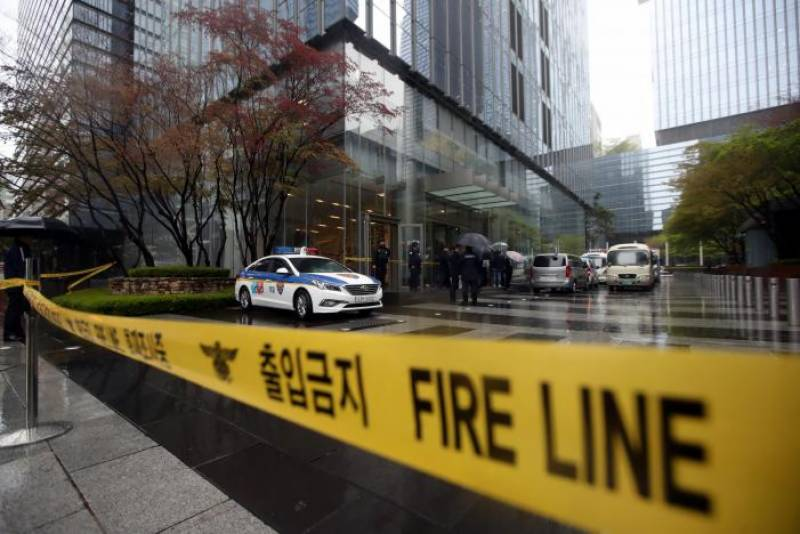 Samsung headquarters evacuated on reports of explosives