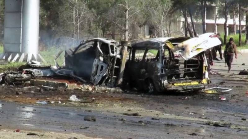 Bomb blast on Syrian bus convoy kills dozens