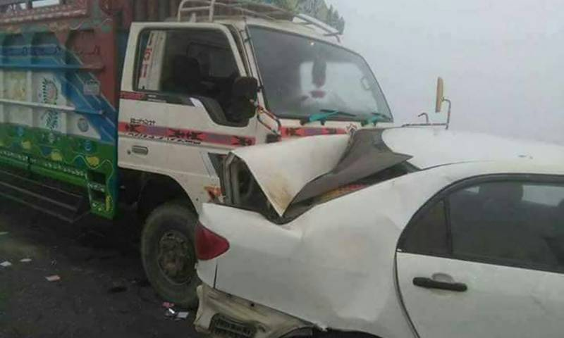 Three of same family killed in road accident near Pindi Bhattian