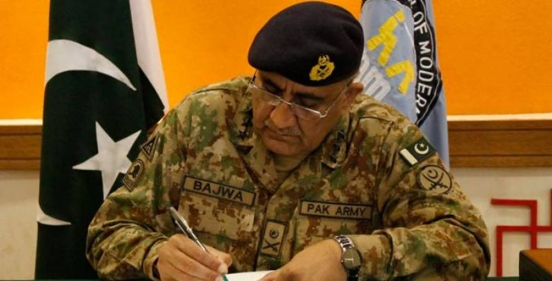 Army chief Bajwa confirms death sentence of 30 terrorists