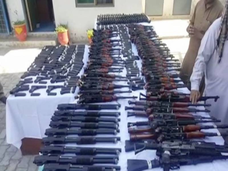 Huge cache of arms recovered in Sheikhupura