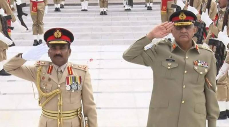 COAS Bajwa meets Sri Lankan army chief