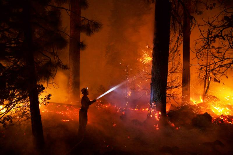 Fire extinguished after three hours in Muzaffargarh forest