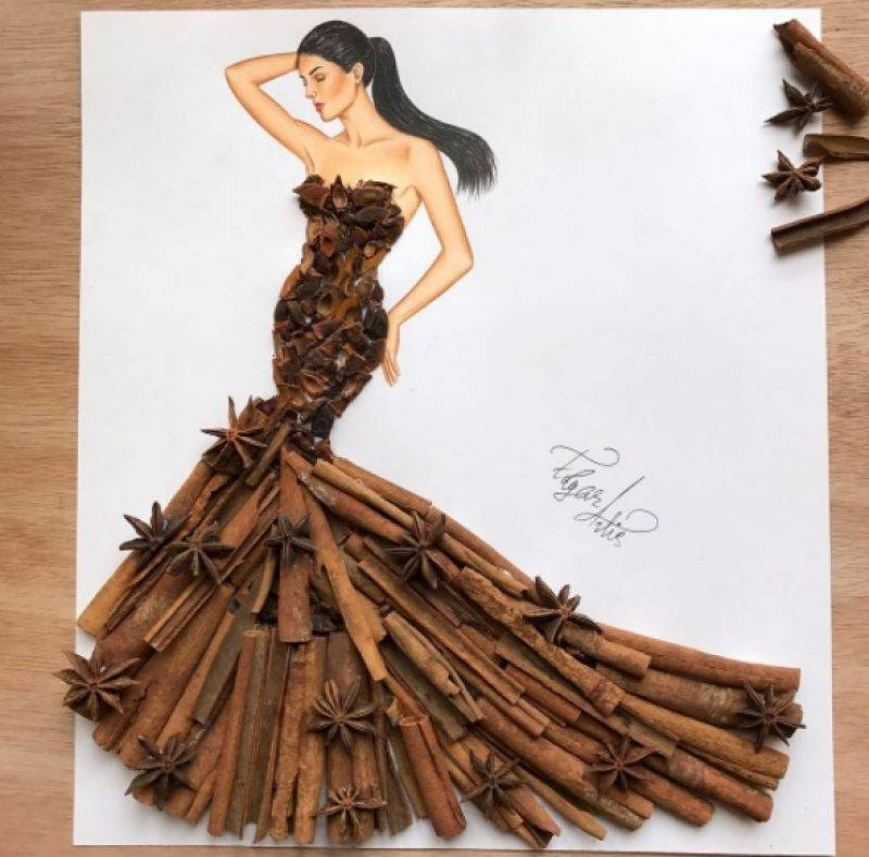 Artist turns objects into fashion apparel for unique sketches for Unique sketches