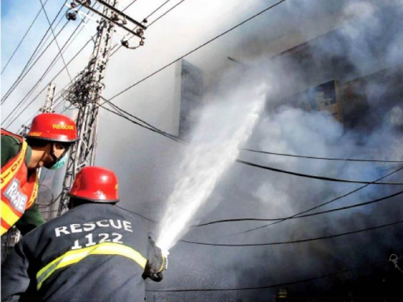Rawalpindi: fire erupts in godown