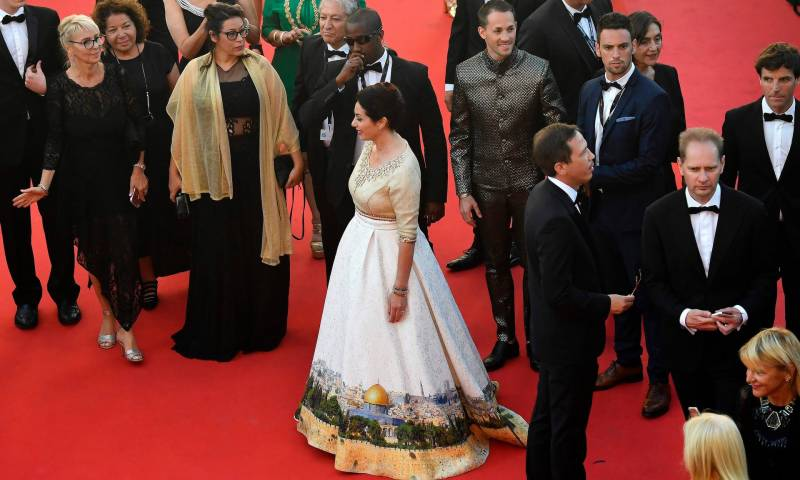 Israeli minister's dress depicting Jerusalem proves controversial in Cannes