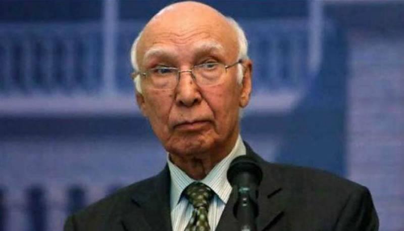 Sartaj Aziz writes letter to UN over Indian violations in IOK