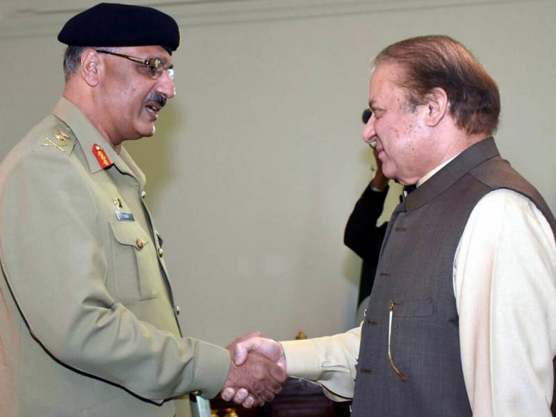 CJCSC meet PM Nawaz to discuss defence, security matters