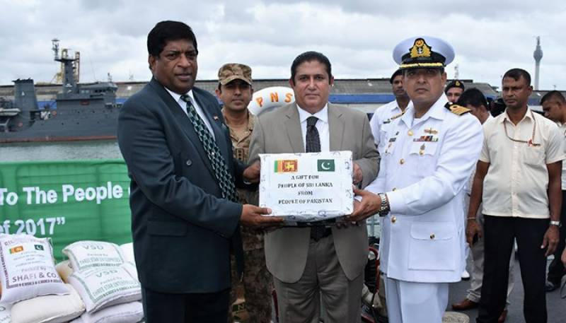 Pakistan's naval ship reaches in Sri Lanka with relief goods