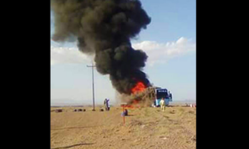 Five pilgrims receive burns as bus catches fire near Iranian border