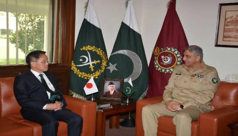 COAS Bajwa meets Japanese envoy over regional security