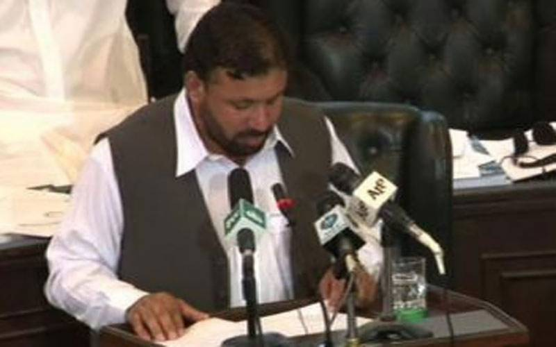 KP Finance Minister Muzaffar Said presents FY 2017-18 budget