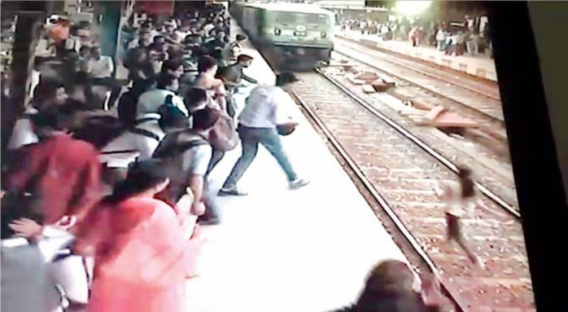 Watch: Girl miraculously saved after train run over her