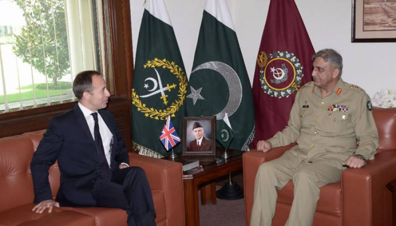 COAS Bajwa meets with British HC over regional security