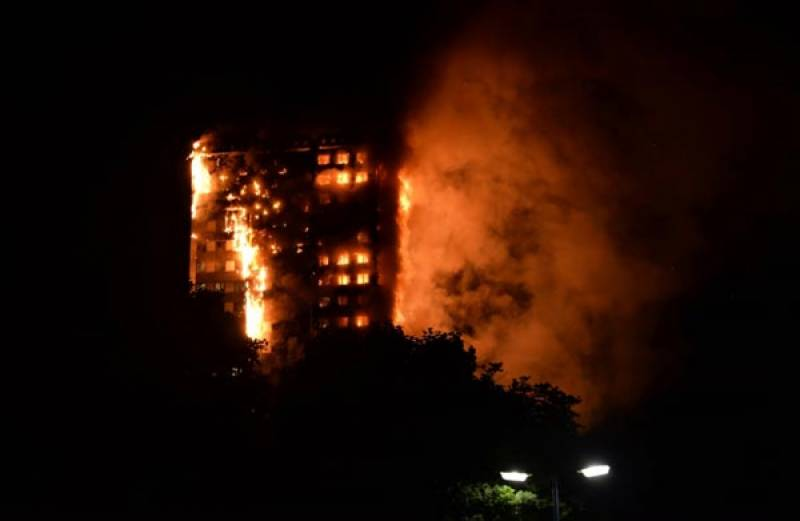 Massive fire engulfs 27-story London tower block leaving 30 injured