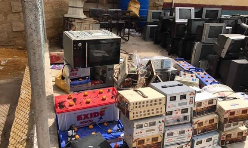 Huge cache of prohibited items recovered from Karachi jail