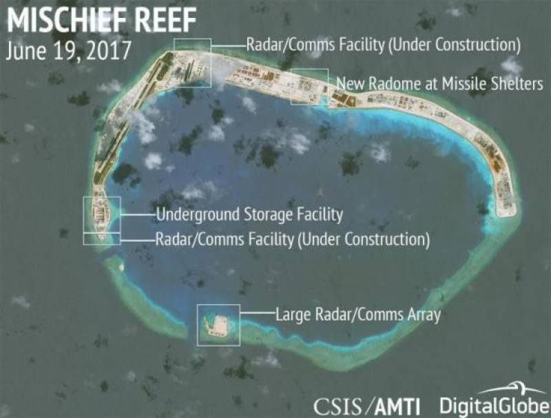 China constructs new strategic bases on South China Sea: think tank