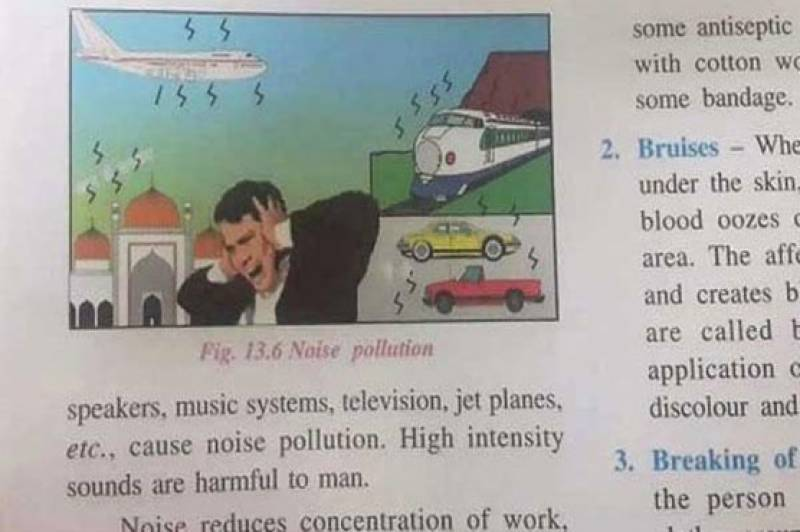 Indian 6th grade science textbook depicts mosque as 'noise pollutant'
