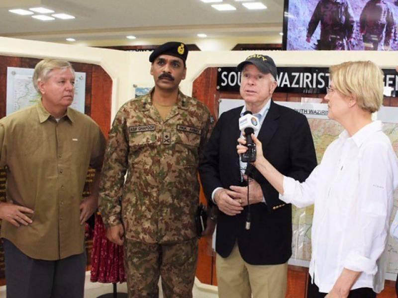 US Senator John McCain lauds Pakistan army's efforts in dismantling terrorist networks