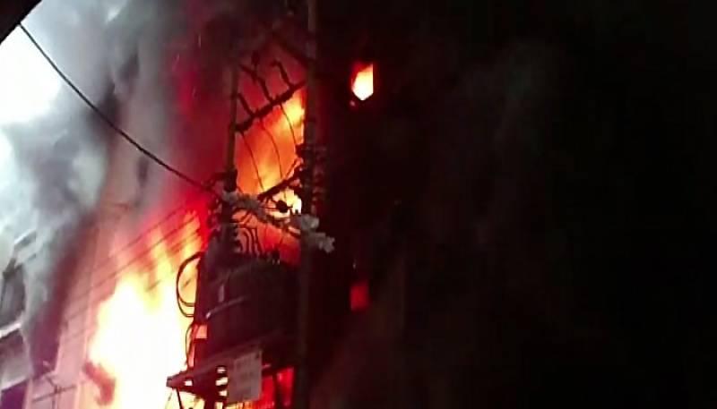 Karachi: blaze erupts at factory in Industrial Area