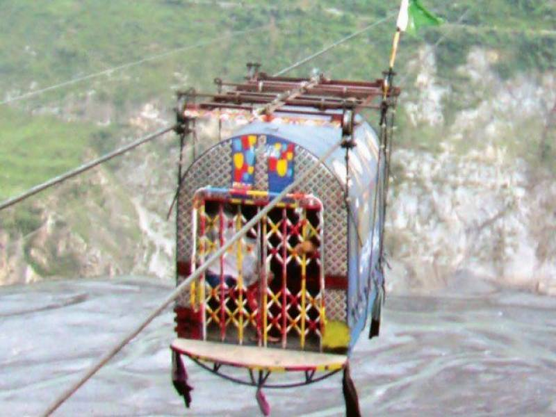 Cable car falls into river Swat leaving five dead
