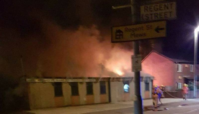 Mosque damaged in suspected arson attack