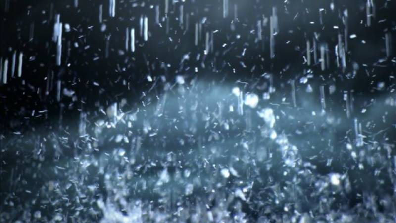 Heavy rain shower with thunderstorm expected