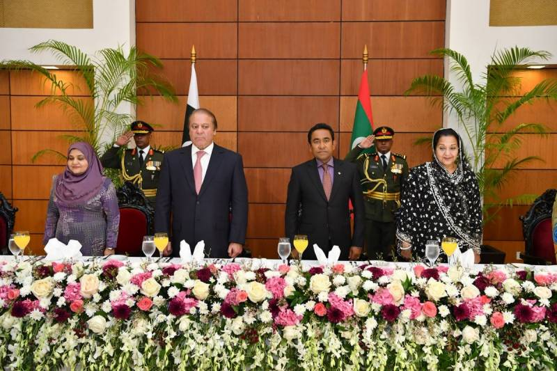 PM Nawaz attends Maldives Independence Day celebrations