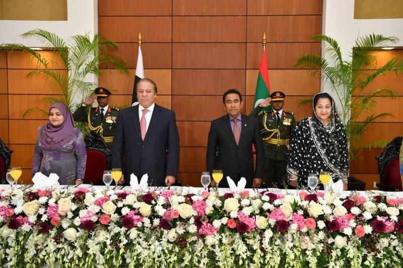 PM Nawaz attends Maldives Independence Day celebrations