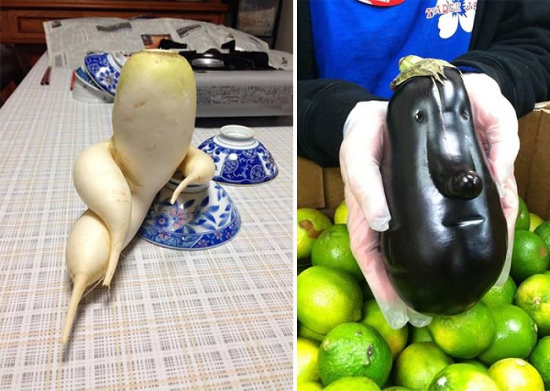 Strangely shaped fruits & vegetables